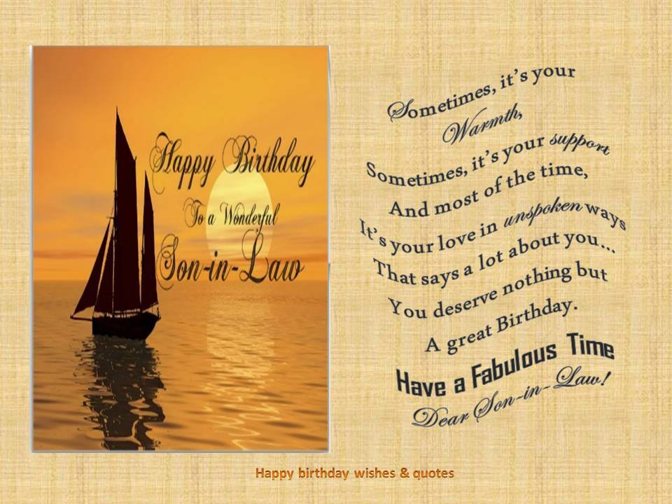 Son In Law Birthday Quotes. QuotesGram