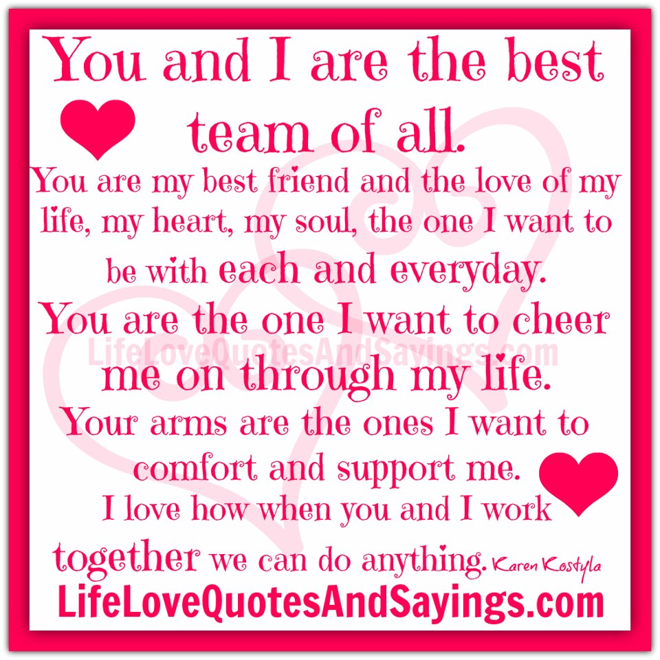 Love Finds You Quote: Love And Support Quotes For Him. QuotesGram
