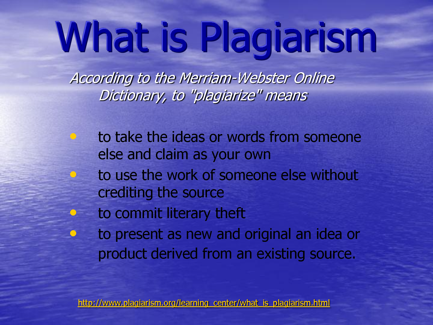People who plagiarized