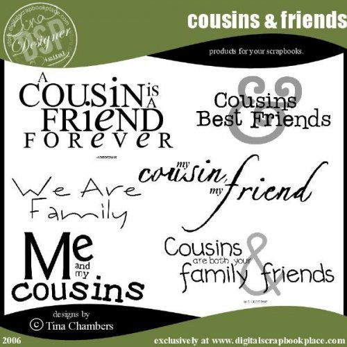 I Love You Quotes: Scrapbook Quotes About Cousins. QuotesGram