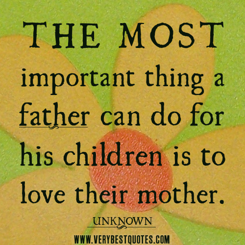 the importance of loving our mothers The importance of the presence of the mother during the first  these types of mothers need our support plus  we are convinced that a baby's needs for his .