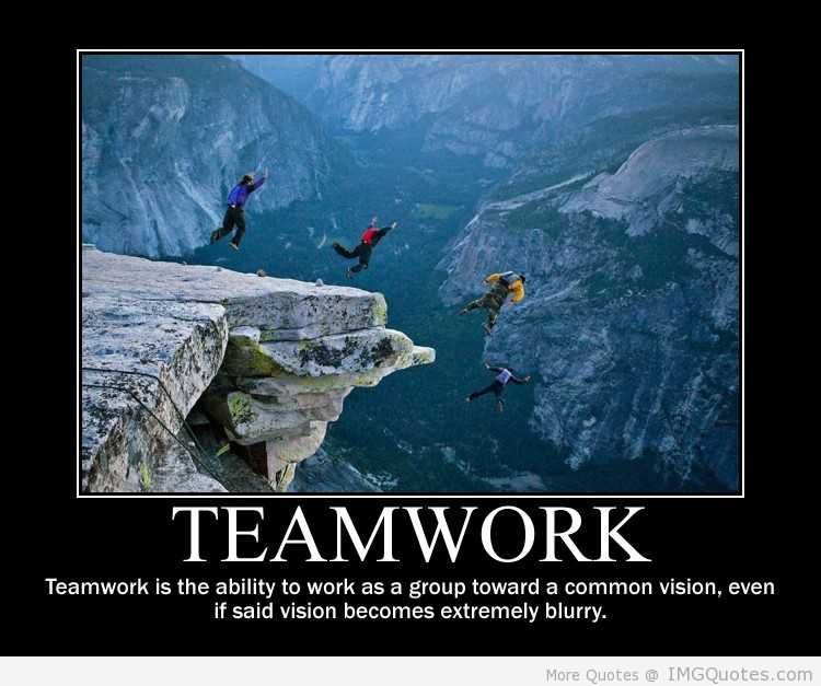 Great Business Quotes Vision: Funny Teamwork Quotes. QuotesGram