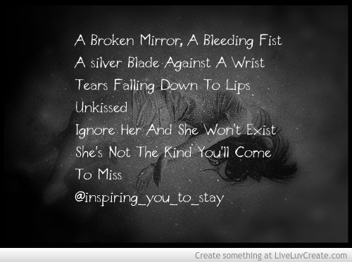 Sad Love Quotes And Sayings Quotesgram: Sad Quotes About Self Harm. QuotesGram