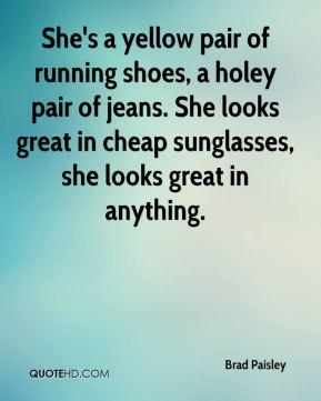 Brad Paisley Yellow Running Shoes
