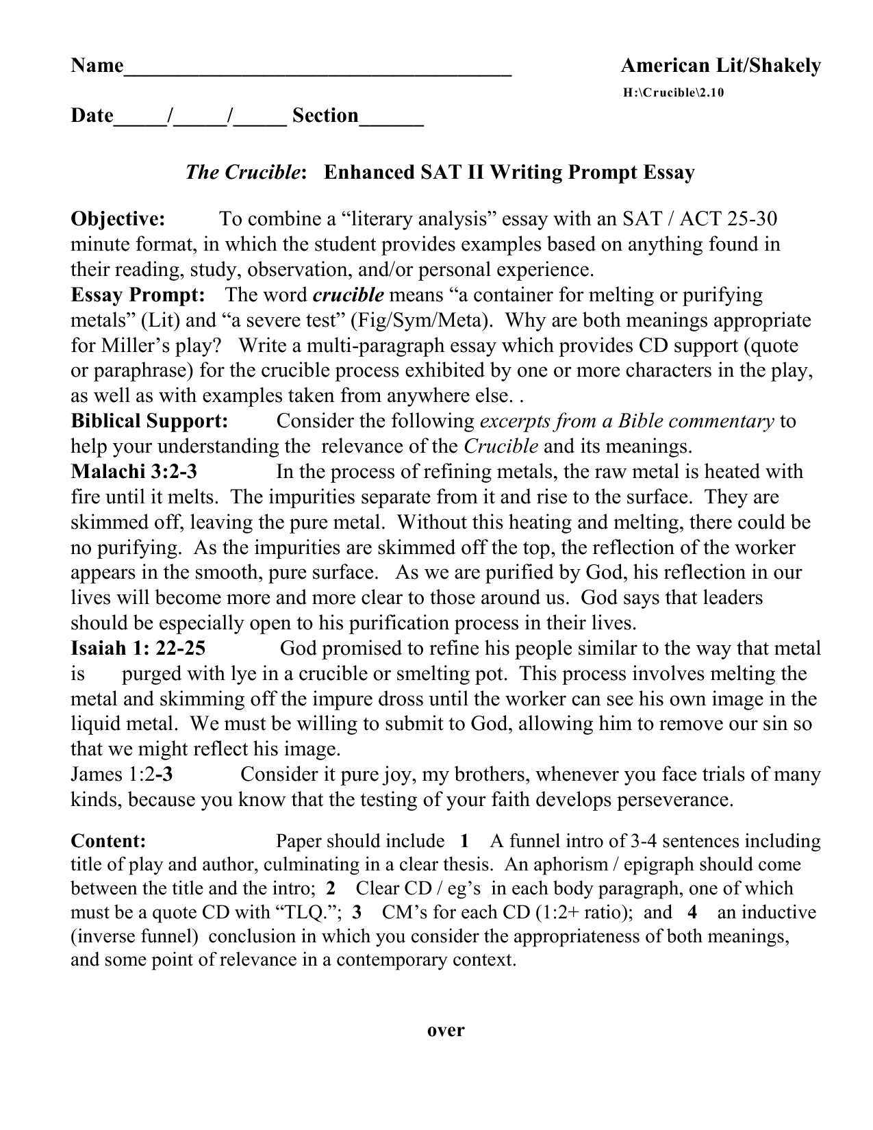 act essay prompts sat essay examples list associate web designer resume examples of sat essay quotes quotesgram acircmiddot the crucible essay prompts