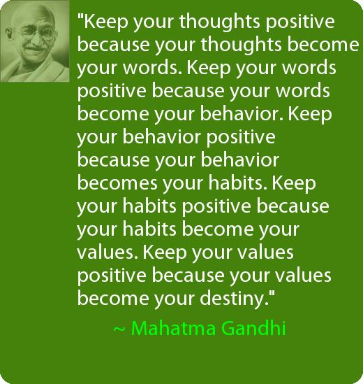 Gandhi Positive Thinking Quotes. QuotesGram