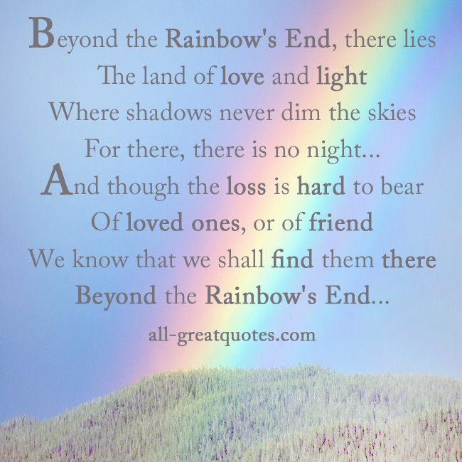 Rainbow Poems And Quotes. QuotesGram