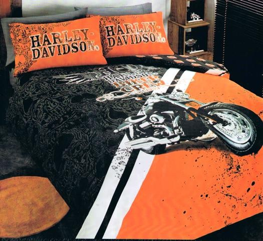 Harley Davidson Queen Es Esgram, Harley Davidson Queen Size Bed Sheets