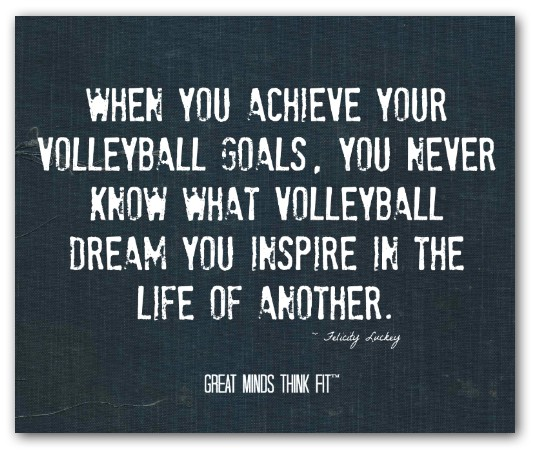 Inspirational Quotes About Positive: Amazing Volleyball Quotes. QuotesGram