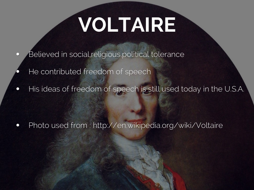 voltaire and his thoughts on the Voltaire thought that this was the basic message of all religions what divided them were (in his view) dubious theological doctrines and rituals it is fairly clear.