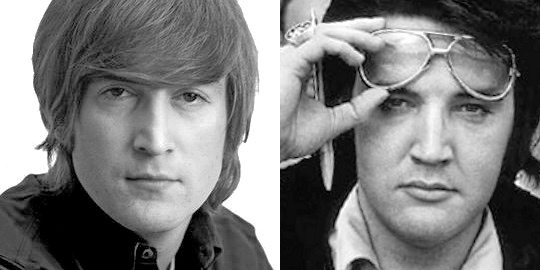 「elvis presley john lennon talk about」の画像検索結果