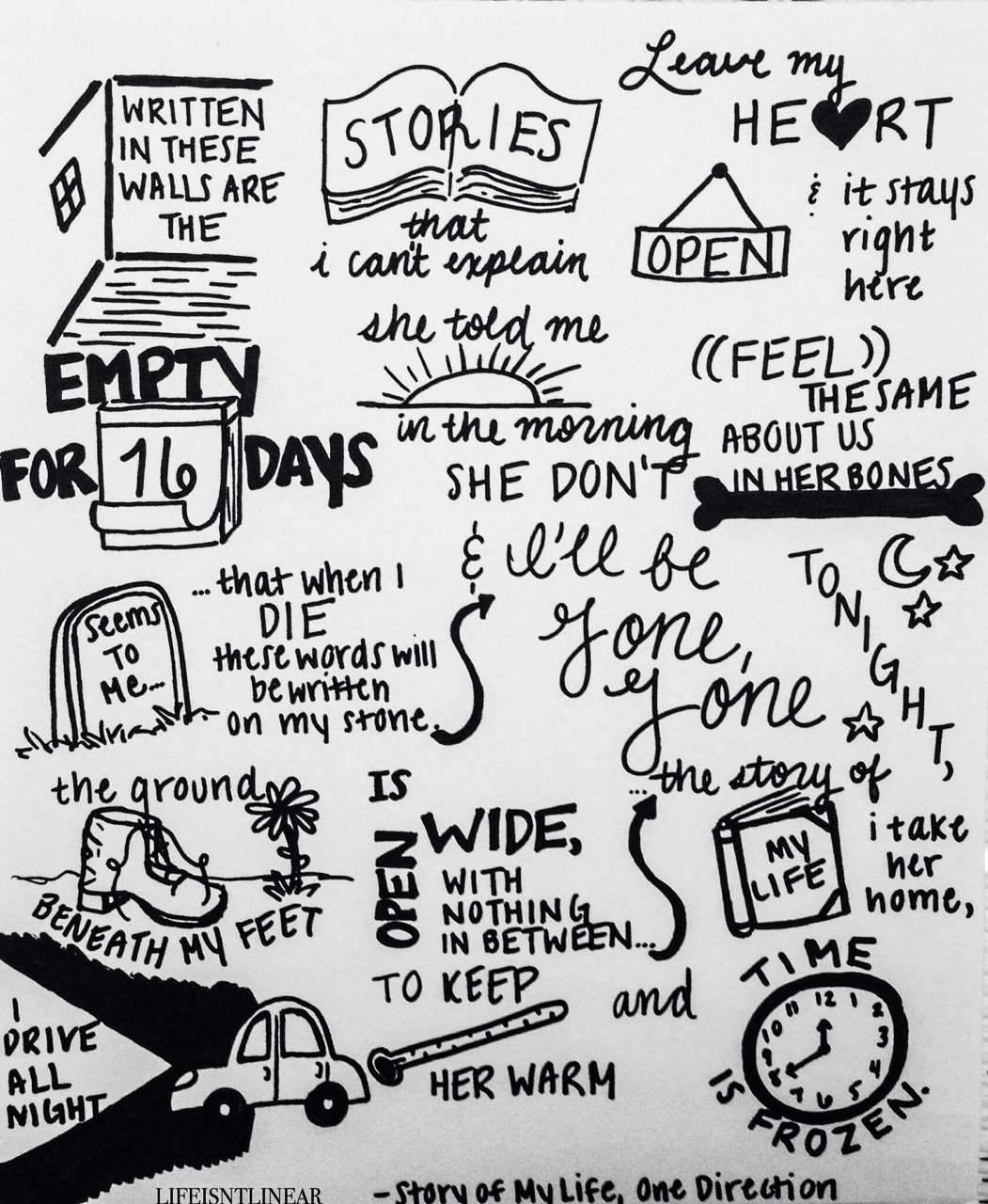 Story Of My Life Lyric Quotes. QuotesGram