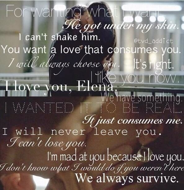 Damon And Elena Love Quotes. QuotesGram