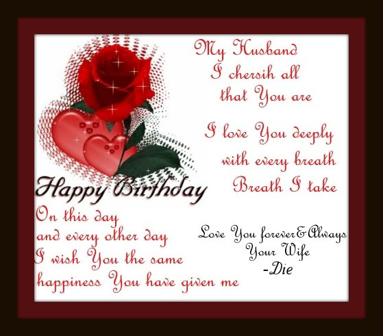 Happy Birthday Letter To My Lovely Husband