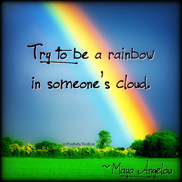 Inspirational Quotes About Positive: Rainbow Meaning Love Quotes. QuotesGram