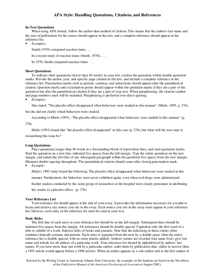 Apa formatting for an expository essay