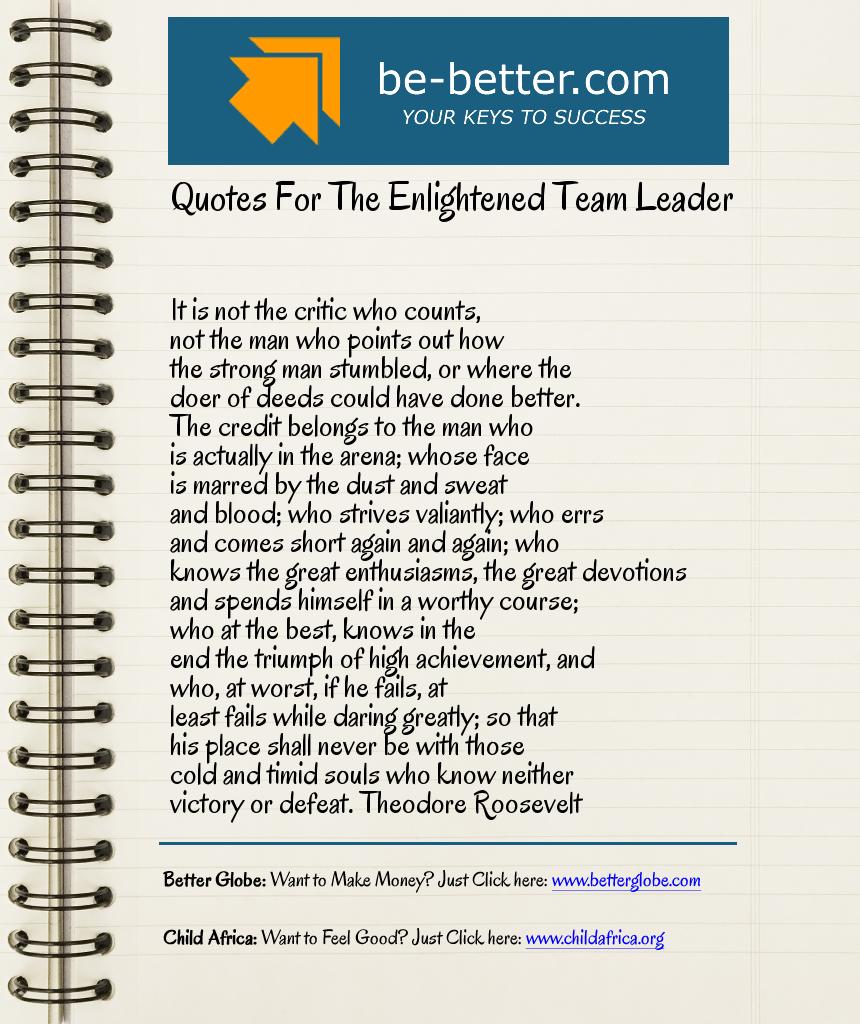 team leader quotes quotesgram leader quotes