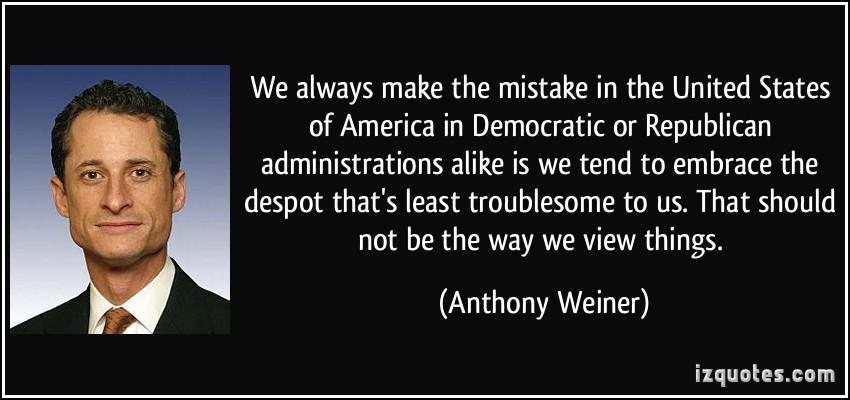 politics anthony weiner democratic reaction