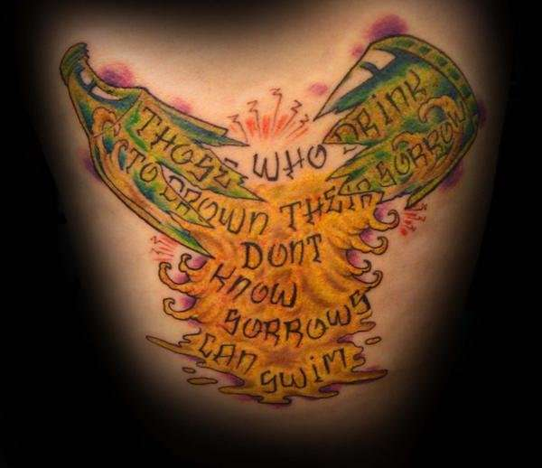 Positive Quotes For Addicts Tattoos. QuotesGram