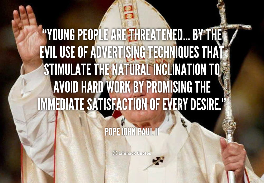 Pope John Paul Ii Quotes Youth: Jpii Quotes For Youth. QuotesGram