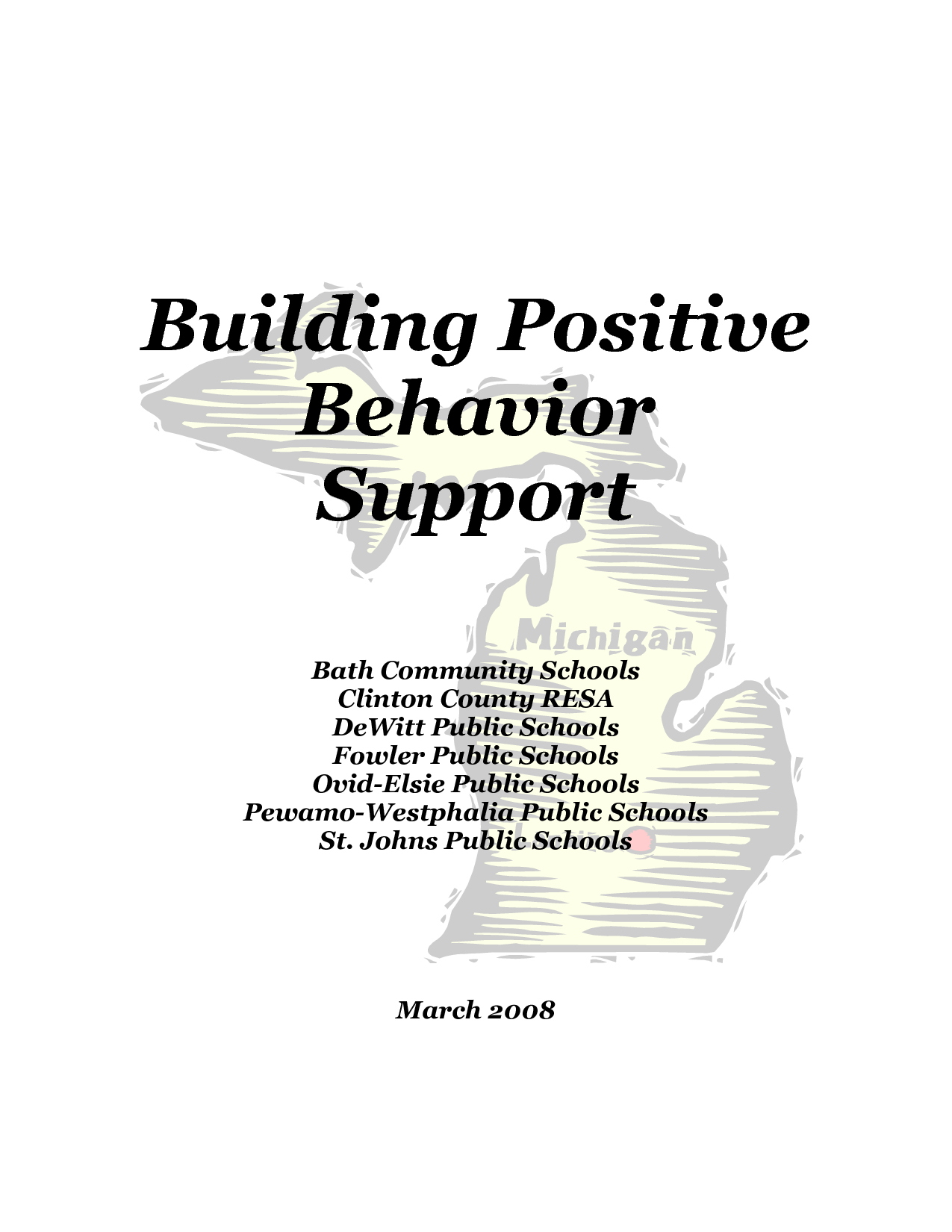 Positive Behavior Support Program