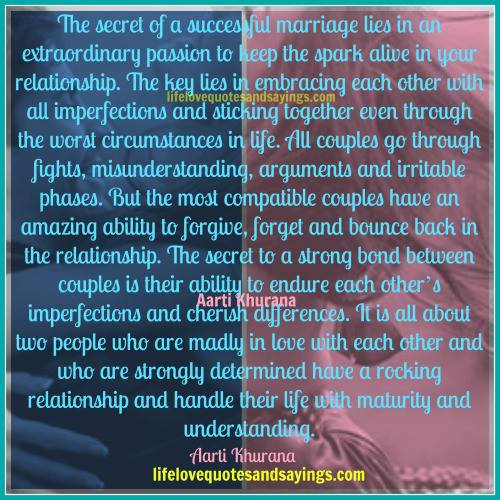 Lies in a marriage