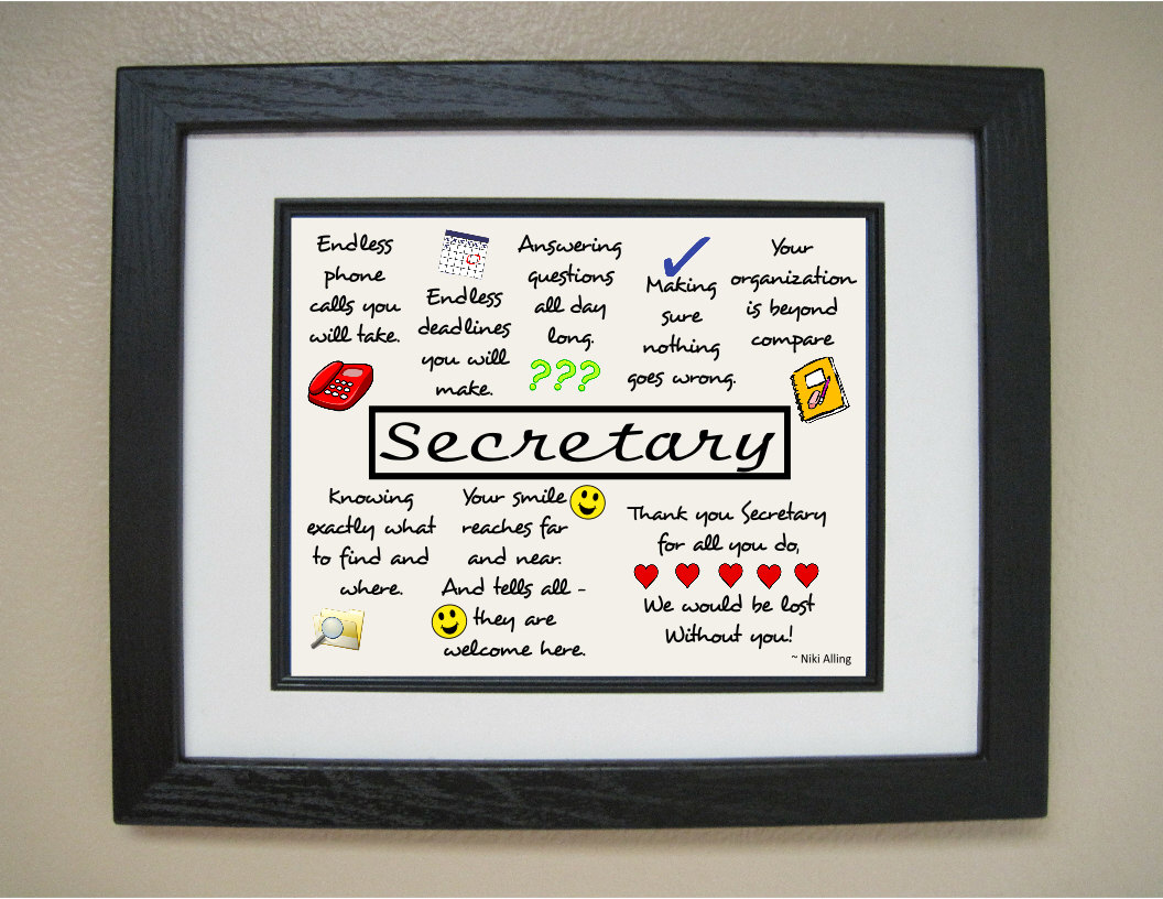 super secretary clipart