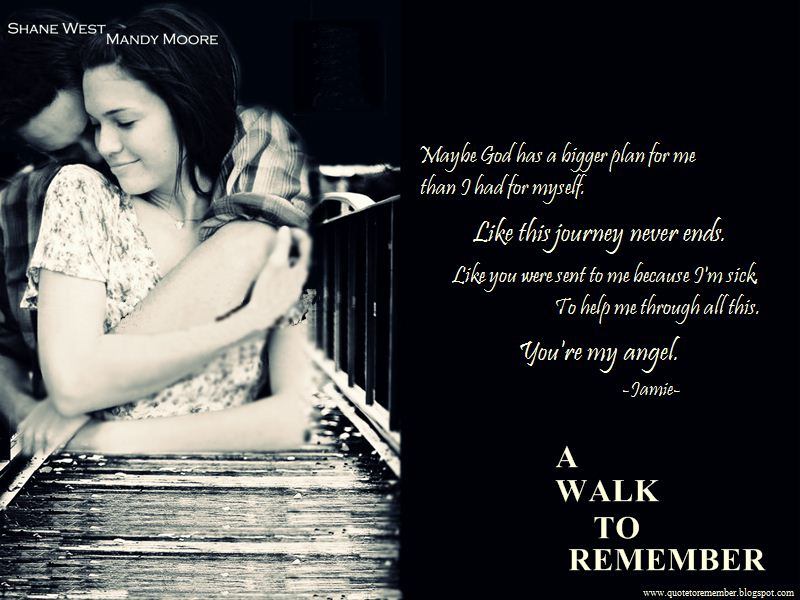 a walk to remember quotes our love is like the wind - photo #16