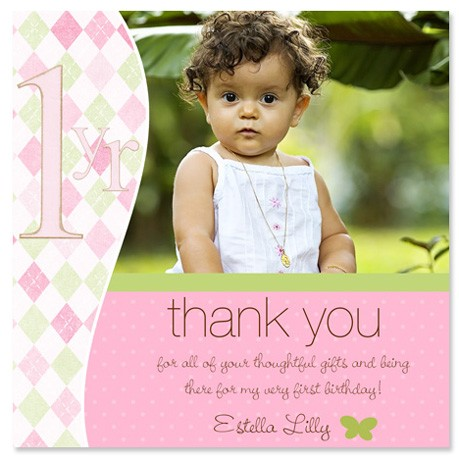 1st birthday thank you quotes – First Birthday Thank You Cards