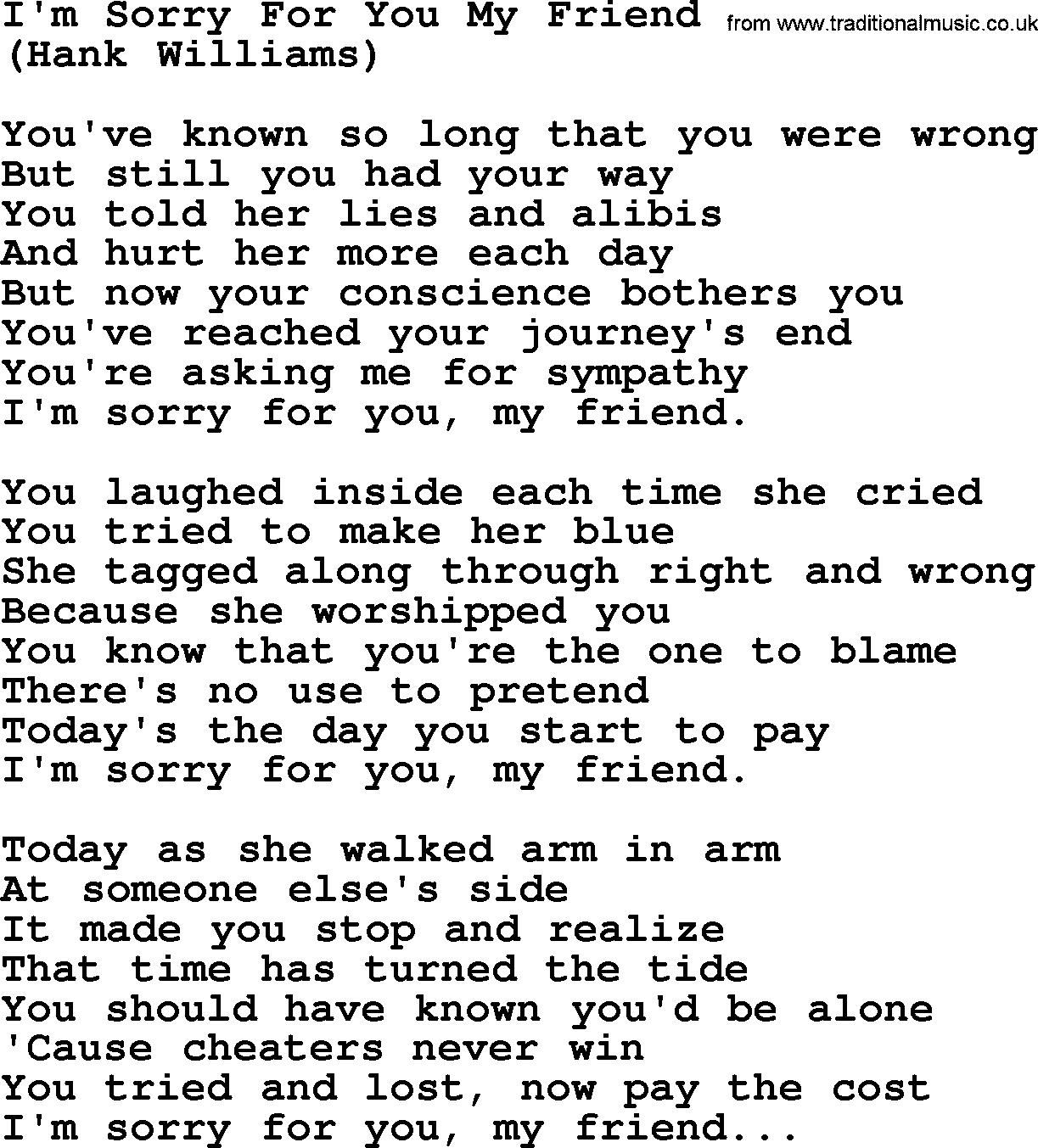 Im Sorry Friend Quotes. QuotesGram