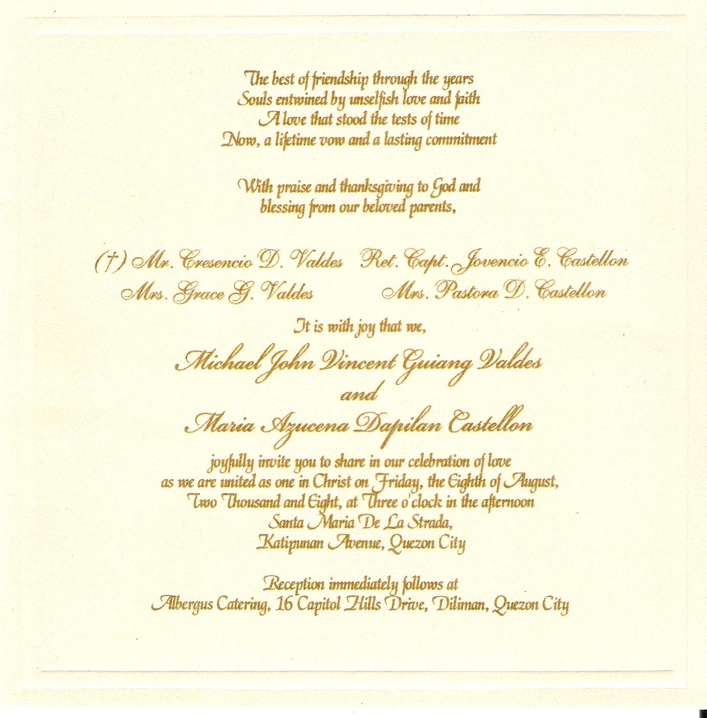 Phrases For Wedding Invitations: Wedding Announcement Quotes. QuotesGram