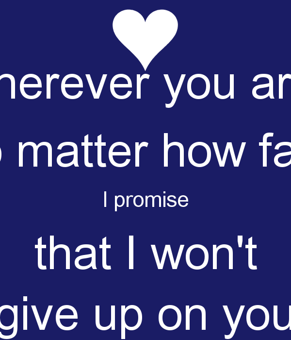 I Gave Up On You Quotes: I Promise I Wont Give Up Quotes. QuotesGram