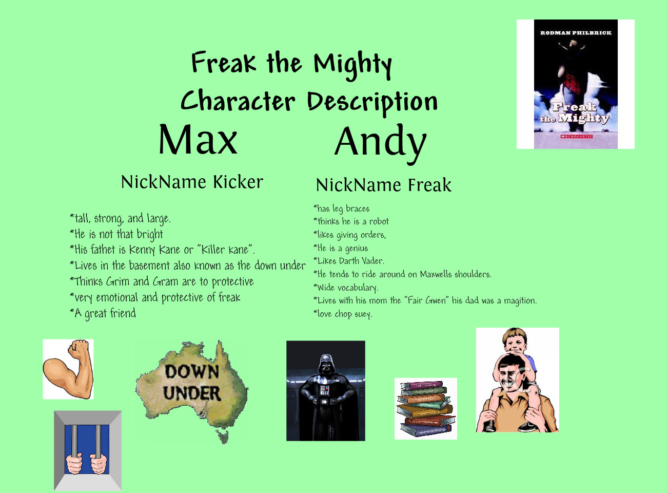 Book report of freak the mighty
