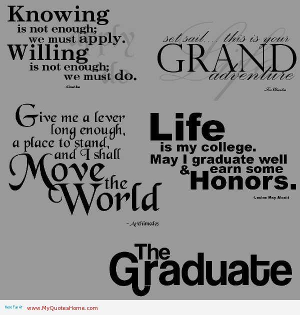 quotes about graduation quotesgram