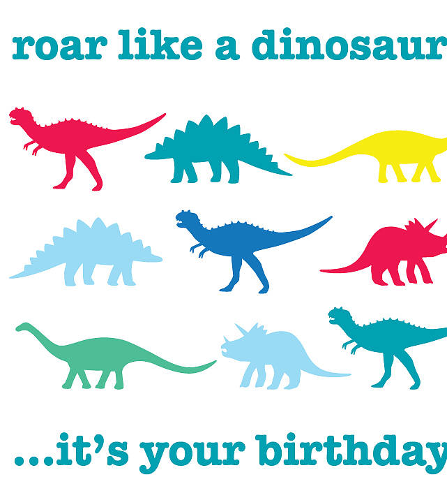 Playful image with regard to dinosaur birthday card printable