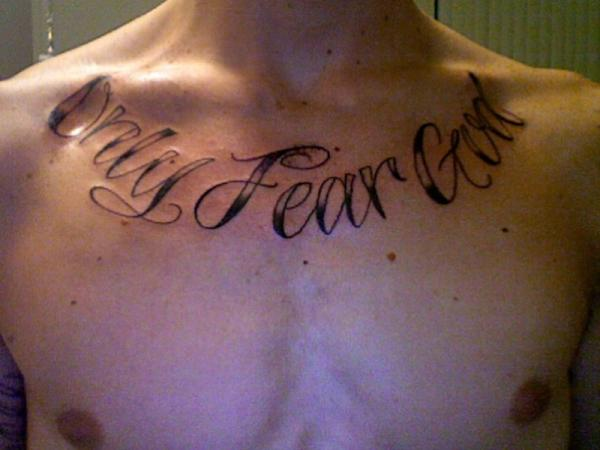 No fear tattoo quotes quotesgram for Tattoo quotes about god