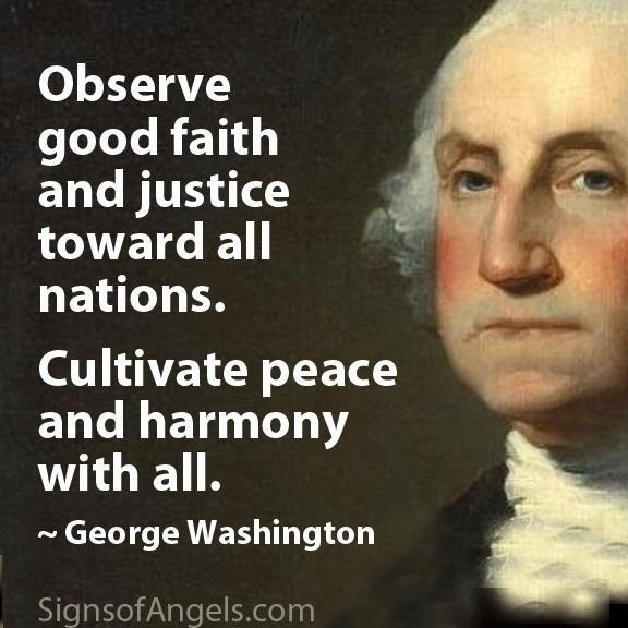 Justice And Peace Quotes: George Washington Quotes. QuotesGram