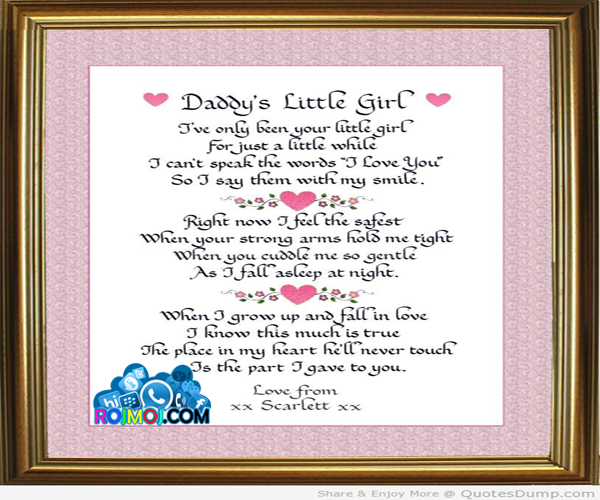 Quotes About Daddys Little Girl: Quotes About Daddys Little Girl. QuotesGram