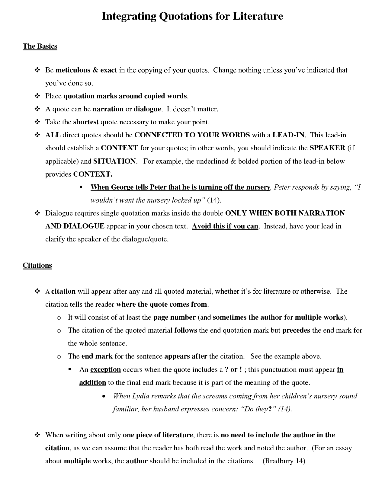 how to use - in essays