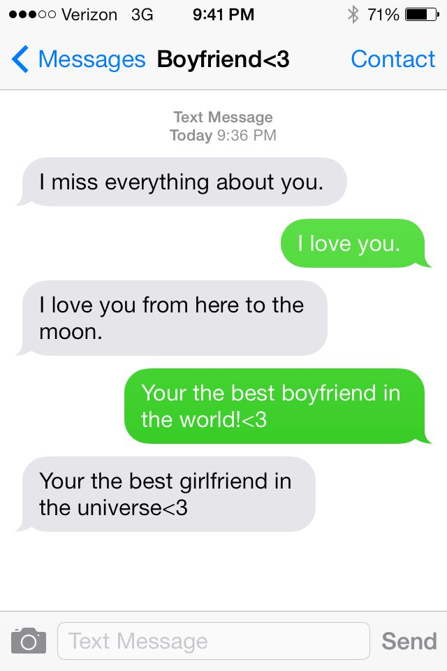 To your ex sweet girlfriend text send I Miss