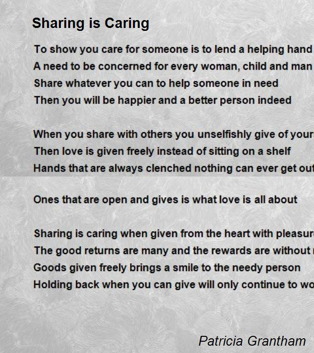 Famous Quotes About Sharing: Sharing Is Caring Quotes. QuotesGram