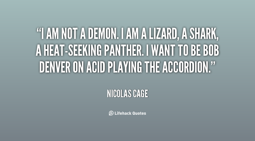 Nicolas Cage Quotes From Movies. QuotesGram