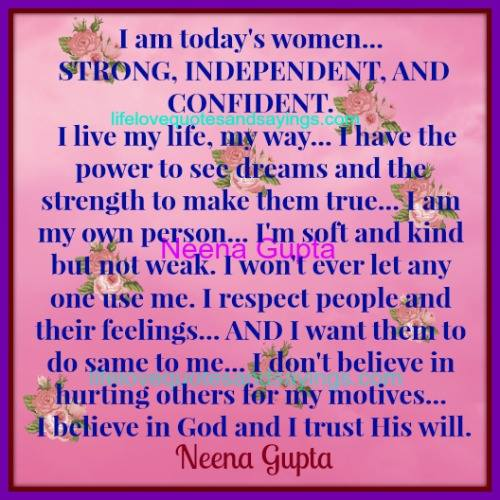 Independent Women Quotes And Sayings. QuotesGram