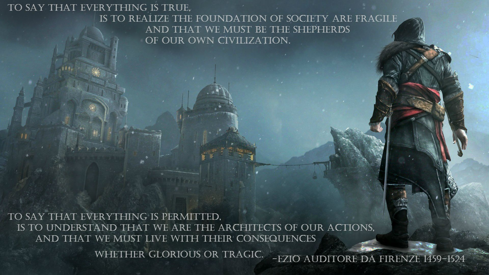 Ezio Quotes Wallpaper Quotesgram