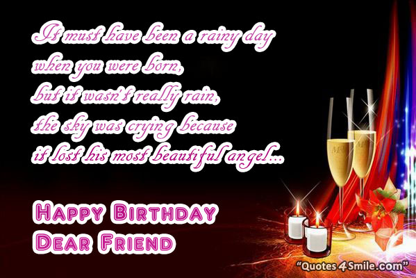 Swell Happy Birthday Dear Friend Quotes Quotesgram Personalised Birthday Cards Beptaeletsinfo