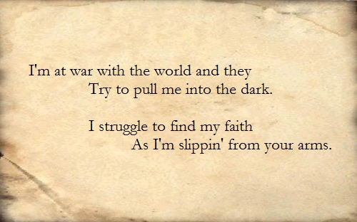 Skillet Lyric Quotes Quotesgram