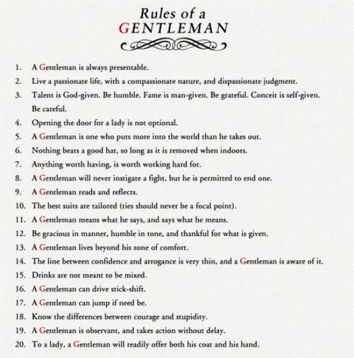 rule of a gentleman quotes  quotesgram