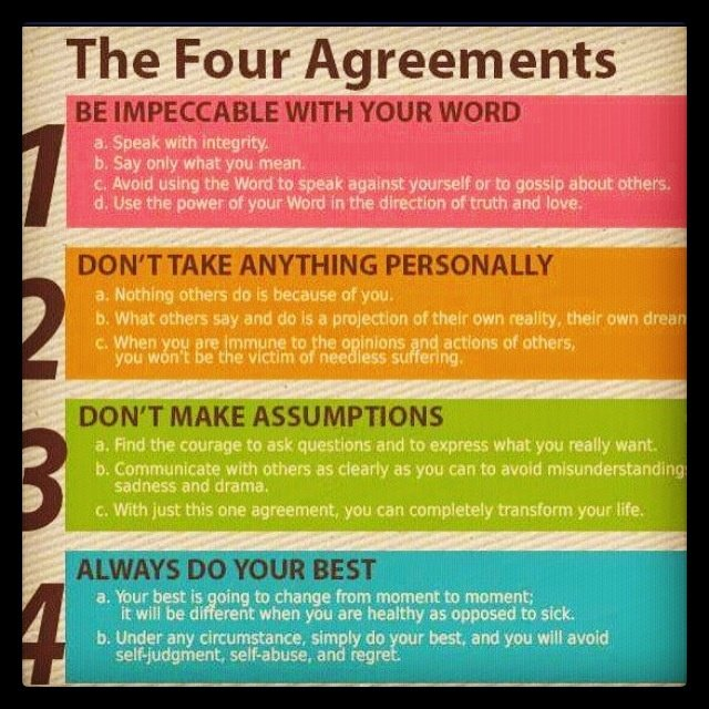 the fourth agreement quotes quotesgram