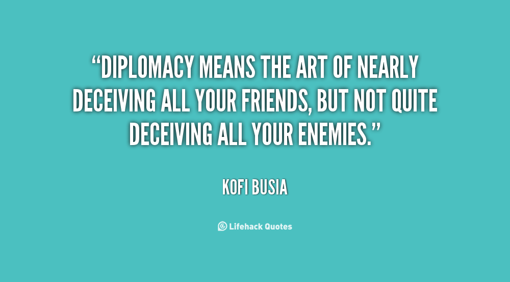 Diplomacy Quotes. QuotesGram