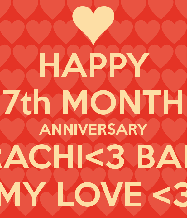 Seven Year Anniversary Quotes: Happy 7th Month Anniversary Quotes. QuotesGram
